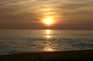 vue sur le coucher de soleil pendant les randonnées